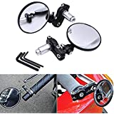 katur 2x motocicleta moto espejo retrovisor handle Bar Circular Plegable blindsight lado Convexo espejo