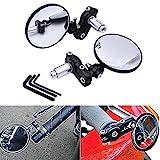 2espejos retrovisores para motocicleta KATUR, espejos circulares convexos para manillar de motocicleta