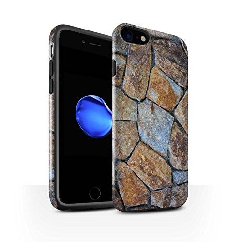 STUFF4 Glanz Harten Stoßfest Hülle / Case für Apple iPhone 7 / Pack 15pcs / Stein/Rock Kollektion Kleine Steinmauer