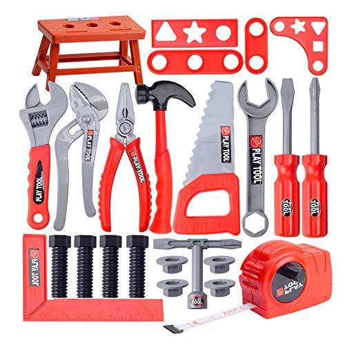 Falliback Werkzeugkiste für Kinder, Reparatur-Set für Babys, Bohrmaschine, Schraubendreher, Haus, Reparatur, Spielzeug für Jungen und Mädchen