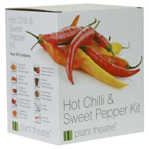 Kit Chili & Paprika von Plant Theatre - 6 verschiedene Sorten zum Züchten - Ein tolles Geschenk
