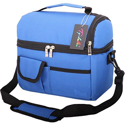 Borsa termica pranzo con tracolla grande capacità - tyidalin impermeabile borsa termica pasto per la a scuola,ufficio, campeggio