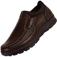 GongzhuMM Mocassins Homme Automne Chaussures de Ville Fond épais Bottes en  Cuir Antidérapant Espadrilles Chaussures de 35dd548e13ee