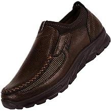 4fa8ccc50 JiaMeng Zapatos Casuales para Hombres Otoño Invierno Scrub Leather Zapatos  Transpirables Antideslizantes Deportivos Zapatos Inferiores Gruesos