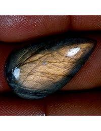 18.15cts 100% natural Multi Color Morado De Labradorita pera cabujón AAA piedras preciosas