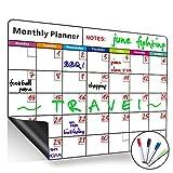 Pizarra magnética de calendario mensual de borrado en - Best Reviews Guide