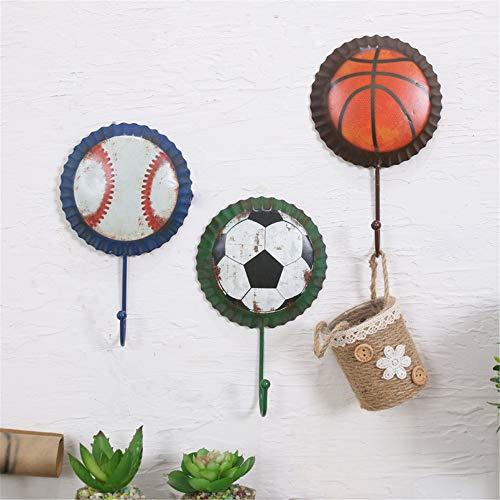 Umkleidekabine Haken, Ball - Wand, Kleiderhaken, Kleidung Kaufen, Anprobieren, Persönlichkeit, Haken, Mauer, Dekoration, Einziger Haken,Basketball