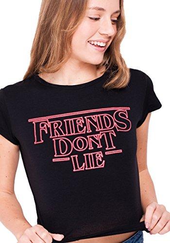 Suite benedict t-shirt nera friends don't lie (nero, s)