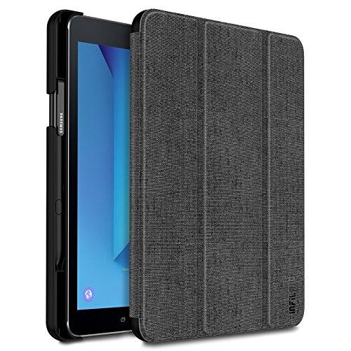 Infiland Samsung Galaxy Tab S3 9.7 Hülle,Ultra Superleicht Schutzhülle Case Tasche mit Auto Schlaf/Wach Funktion und S Pen Halter Compatible with Galaxy Tab S3 T820 / T825 (9,68 Zoll) Tablet-PC(Grau)