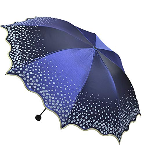 Blumen schnüren sich kompakten Spielraum-Regenschirm verstärkter winddichter Rahmen starker beweglicher schnell trocknender Regenschirm Anti-UV -
