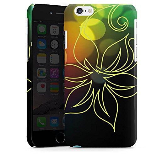 Apple iPhone 4 Housse Étui Silicone Coque Protection Fleurs Fleurs Lumière Cas Premium brillant