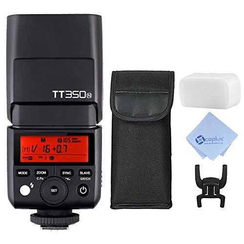 Godox-TT350N-24G-TTL-18000s-TTL-GN36-Wireless-Speedlite-Flash-01-22s-Recycle-Time-for-Nikon-D800-D750-D700-D610-D7100-D5200-D90-CameraMcoplus-Cleaning-Cloth