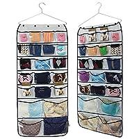 MISSLO 42 Pockets Hanging Closet wardrobe Storage Bra Underwear Organiser
