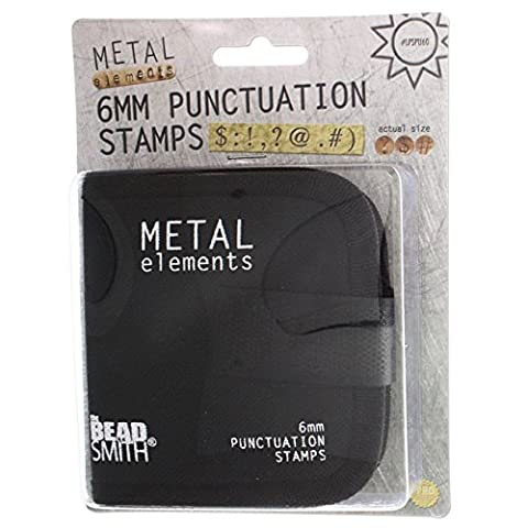 BeadSmith Punctuation Punch Stamp Set, With Canvas Case 6mm, 9 Pieces