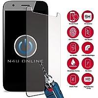 "N4U Online® - Genuine Premium Tempered Glass Screen Protector For BLU Vivo XL 2 (5.5"")"