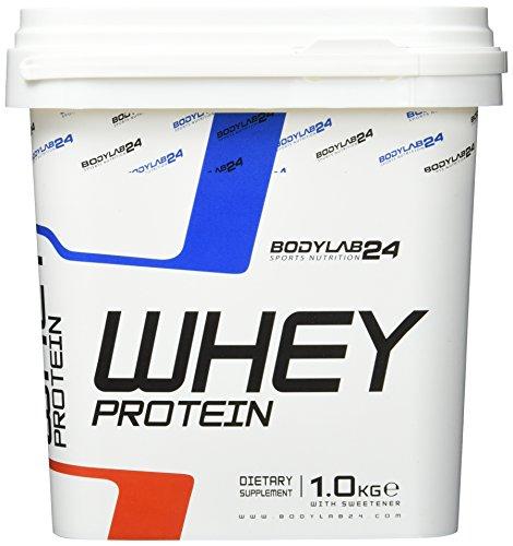 Bodylab24 Whey Protein Eiweißpulver, Geschmack: Banane , hochwertiges Proteinpulver, Low Carb Eiweiß-Shake für Muskelaufbau und Fitness, 1000g -