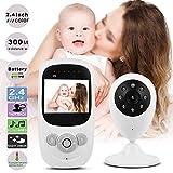 Babyphone mit Kamera, drathlos Babyphone Wireless Video Babyfon mit Digitalkamera, Nachtsicht Temperaturüberwachung & 2 Way Talkback System Babyfon,Zeitnahme