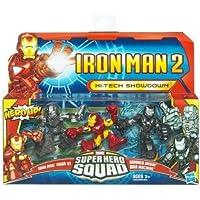 Iron Man 2 Super Hero Squad Hi-Tech Showdown (Mark VI, Hammer Drone, War Machine) Action Figure Multi-Pack