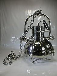 XXXXXL Riesige Schiffslampe Deckenleuchte Hängelampe Aluminium vernickelt Schiff Suchscheinwerfer Vintage Deckenlampe Industrie Design Leuchte