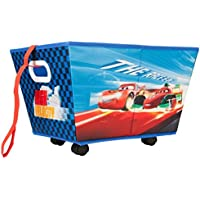 Preisvergleich für Disney Cars rollbare Aufbewahrungsbox Rollbox Spielzeugbox Spielzeugkiste mit Rädern