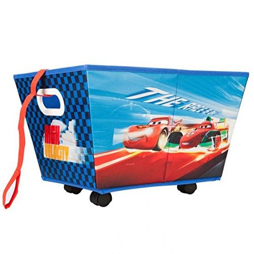 Disney Cars rollbare Aufbewahrungsbox Rollbox Spielzeugbox Spielzeugkiste mit Rädern