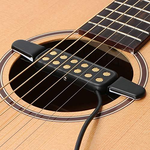 Sguan-wu KQ-3 Guitarra acústica clásica Agujero de sonido Clip para Tonabnehmer Humbucker Verstärker - Schwarz