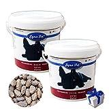 Lyra Pet Dog 2 x 600g Wachtel Softies im Eimer Hunde Leckerli Snack + Geschenk