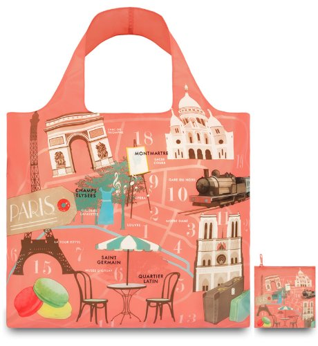 Loqi UR.PA Urban Sac de courses Motif Paris