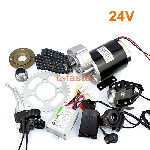 L-faster 24V36V48V 450W Electric Tricycle Conversion Kit Electric Trike  Gear Motor Electric Rickshaw Kit MY1020Z 450W Brushed Gear Motor (24V pedal