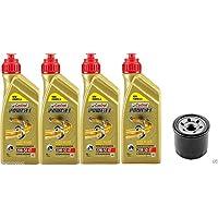 Tecneco Kit 4huile Castrol 20W50Power 1+ Filtre à huile Kawasaki VN 1600
