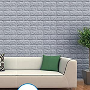 3d brick tile stereo wall sticker wall paper removable. Black Bedroom Furniture Sets. Home Design Ideas