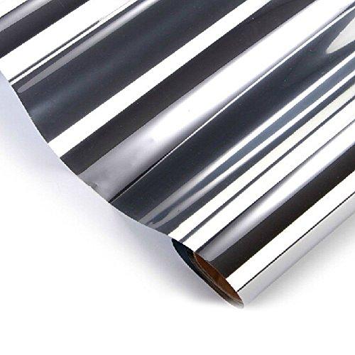 AERZETIX: 3Meter 50cm Solarfolie, getönt, Silber, Spiegeleffekt, für Fensterscheibe