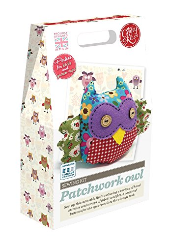 Crafty Kit Company Sewing Kit Patchwork Owl: a complete kit with absolutely to make this sweet little owl. A great project for beginners to sewing, and a for craft lovers.