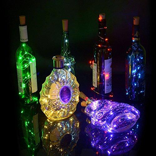 Flaschenlicht, 3 Stück 40inch (100cm) 20 LED Purple Kupferdraht Lichter String Starry LED Lichter für Flasche DIY, Party, Dekor, Weihnachten, Halloween, Hochzeit oder Stimmung Lichter