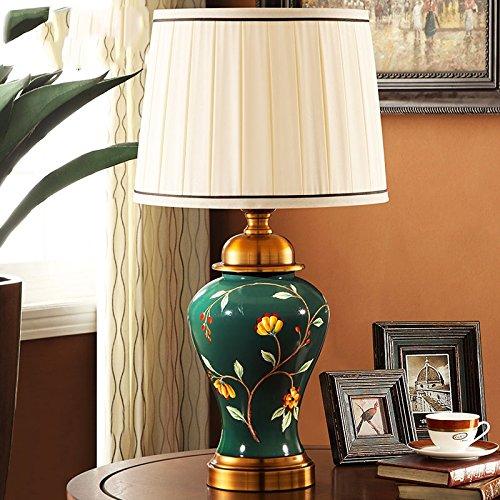Cuarto de baño americano de lujo de la lámpara de la cama Dormitorio de estilo europeo creativo pintado a mano Iluminación de la sala de estar retro