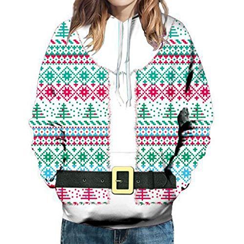 jkhhi Sweatshirts Kapuzenpullover Hoodie Weihnachten Langarm T-Shirts Shirts Mädchen Blusen mit Aufdruck Herbst Winter Warm Lässige Mode Weihnachten Tops Hemdtaschen Sweatshirt -