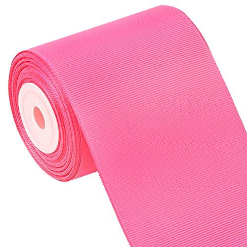 LaRibbons 9m x 75mm Breite Feste Ripsband ( 156 Heißes Rosa )