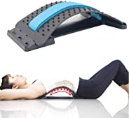 MOGOI Lumbar Stretcher, Multi-Level Back Massager Lumbar Support Stretcher Spinal Pain Relieve Back Pain Muscle Pain Relief