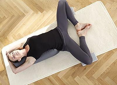 YOGISTAR Yogamatte Natur (Schafwolle) Umsäumt