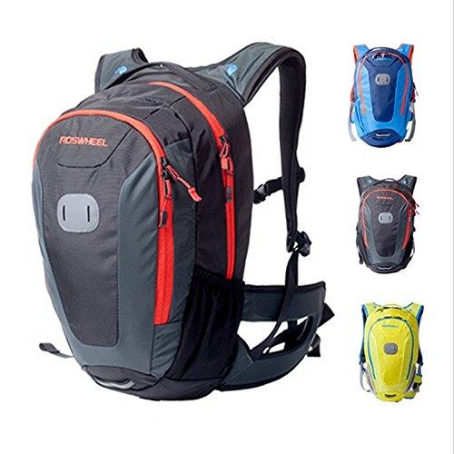 ROSWHEEL Multifunktionale Outdoor-Fahrrad-Fahrrad-Tasche Reiten Rucksack Sport Rucksack 18L Gelb