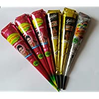 Golecha Black Henna Cones Natural Ingredients Clinically Tested