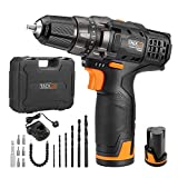Best Drill Cordlesses - Cordless Drill, Tacklife PCD03B 2pcs 12V Lithium-Ion Batteries Review