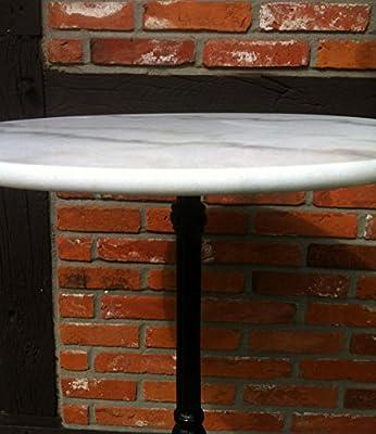 Gartentisch Bistrotisch Marmor Marmortisch Gartentisch weiß, gusseisener Fuss Ø60cm von GM-Milte - Gartenmöbel von Du und Dein Garten
