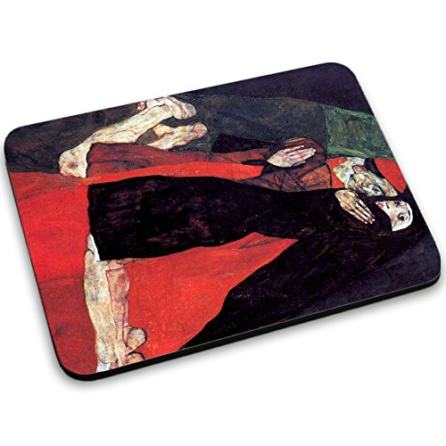 schiele-cardinal-and-nun-the-caress-designer-mouse-pad-with-colourful-design-strong-anti-slip-base-f