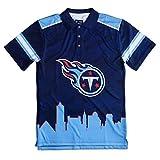 Klew NFL Thematische Polo Shirt, Herren, Tennessee Titans