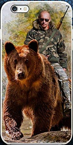 Blitz® RUSSLAND Schutz Hülle Transparent TPU Cartoon SAMSUNG Galaxy Putin auf der Jagd M5 S8