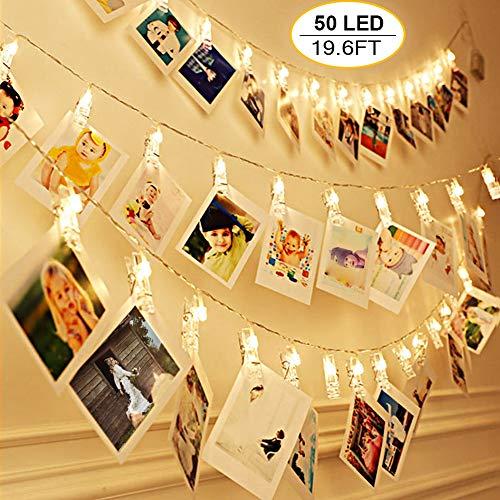 50 LEDs Clips Photos Guirlande Lumineuse,VIFLYKOO 6M 8 Modes...