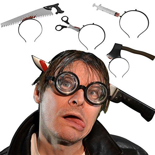 semen Halloween-Messer Blutig Haarreif Haarschmuck Kopfschmuck Halloween Fasching Fastnacht (6PCS)