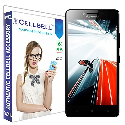 Cellbell Premium Lenovo A6000 / A6000 Plus + (Clear) Tempered Glass Screen Protector (Comes with Warranty,User guide,Complimentary Prep cloth)