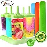 Gemoor Stieleisformer Set Silikon BPA Frei EIS Formen - 6 Stück EIS am Stiel und 3 Stück...